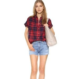 [Madewell] Central Plaid Button down top